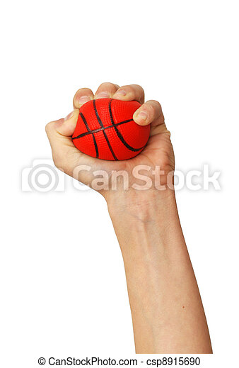 Hands squeezing ball toy - csp8915690