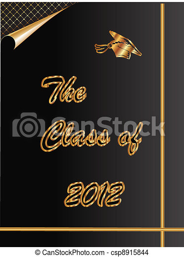 The Class of 2012 graduation card - csp8915844