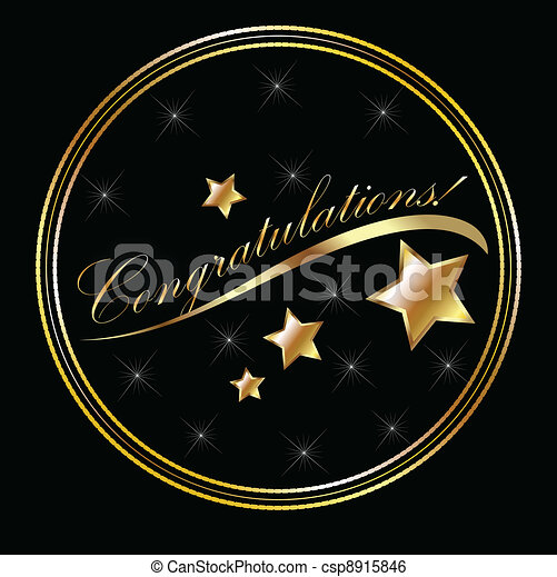 Congratulation lettering gold with - csp8915846
