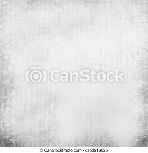 White beautiful wedding background - csp8916026