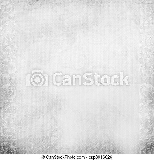 White beautiful wedding background  - csp8916026