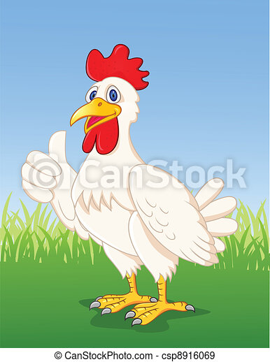 Chicken cartoon - csp8916069
