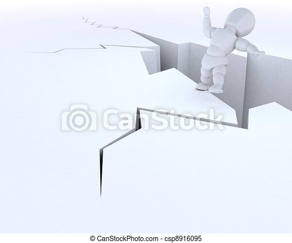 man on a cliff edge - csp8916095