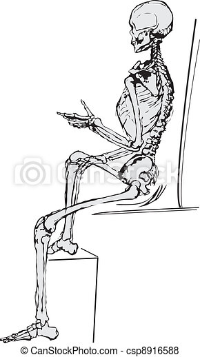 human body by X-rays - csp8916588