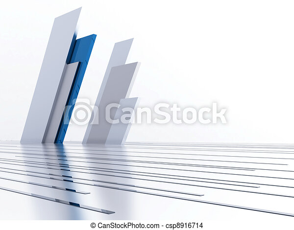 Abstract metallic lines and details as a futuristic background - csp8916714