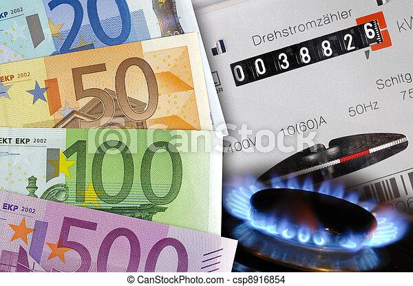 energy costs euro - csp8916854