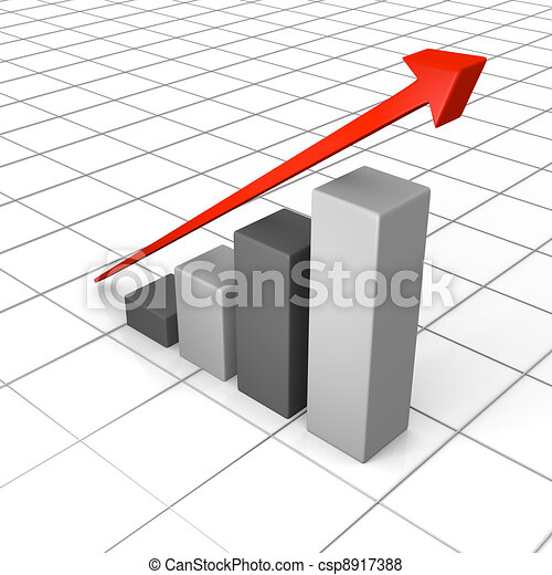 Growth chart with linear trend line - csp8917388