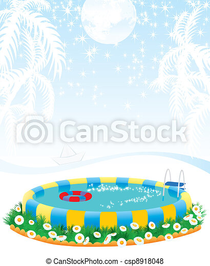 outdoor pool and tropical islands - csp8918048