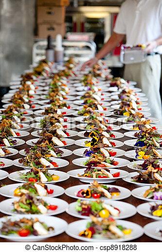 Wedding preparation and food servic - csp8918288