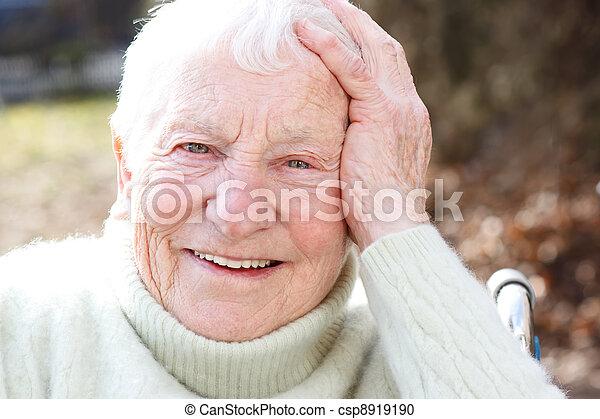 Happy Elderly Woman  - csp8919190