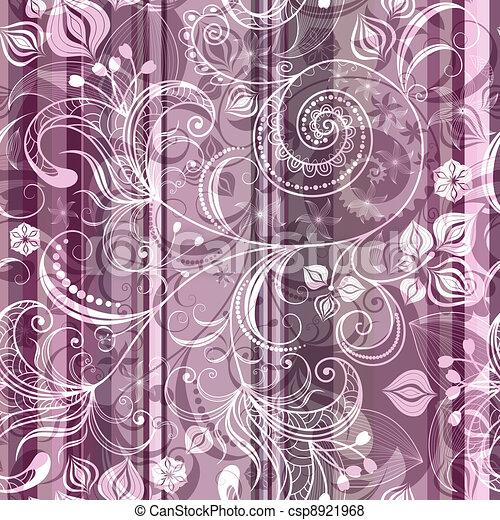 Striped pink floral pattern - csp8921968