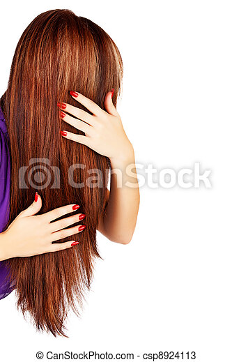 long brown hair - csp8924113