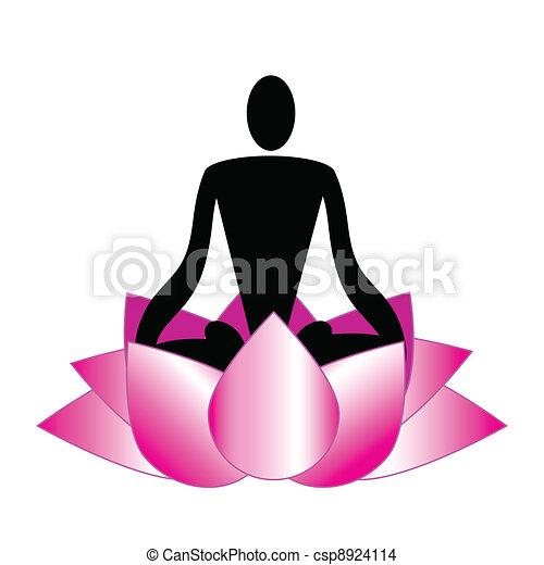 Logo, meditation, yoga, spa - csp8924114