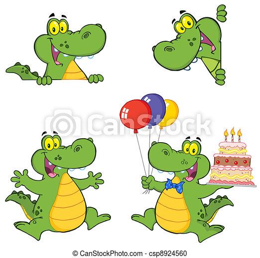 Crocodile dessin anim caract res vecteur instant download csp8924560 - Dessin anime crocodile ...