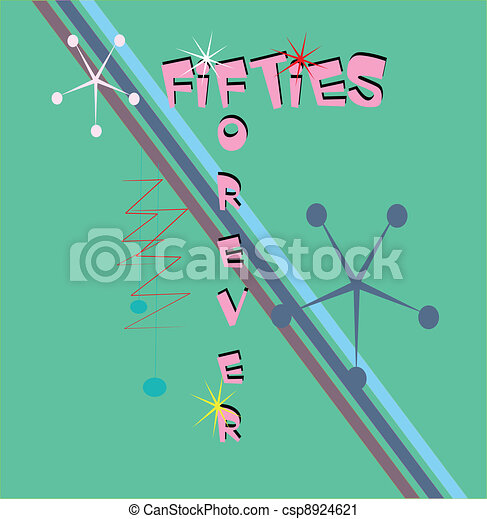 fifties forever background  - csp8924621