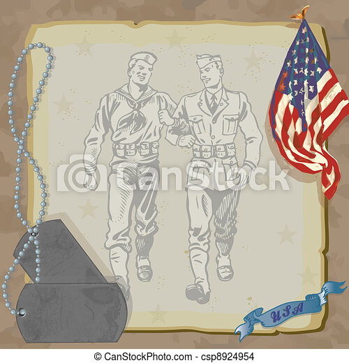 Welcome Home Military Invitation - csp8924954