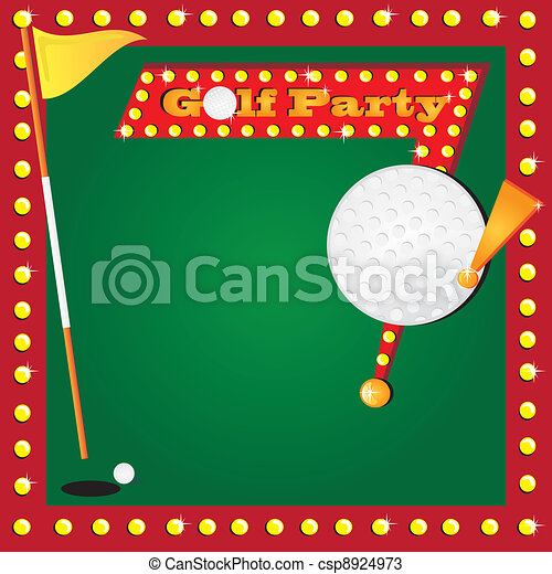 Retro Miniature Golf Invitation - csp8924973