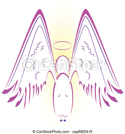angel with wings - csp8925419