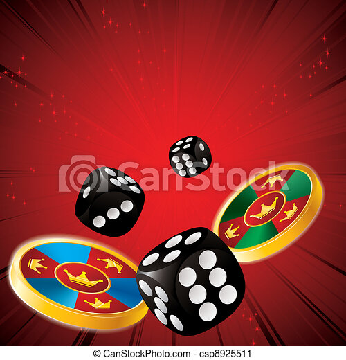 casino chips and dice - csp8925511