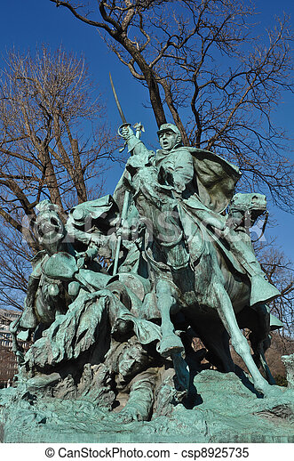 Civil War Statue in Washington DC - csp8925735