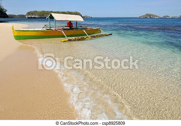 Boat on Beach - csp8925809