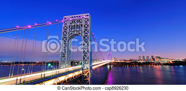 George Washington Bridge panorama - csp8926230