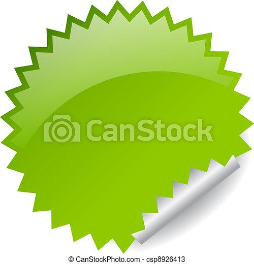Vector green sticker - csp8926413
