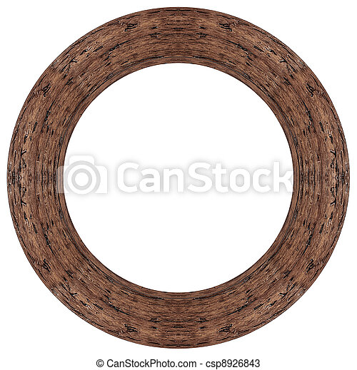 Oval wood picture frame - csp8926843