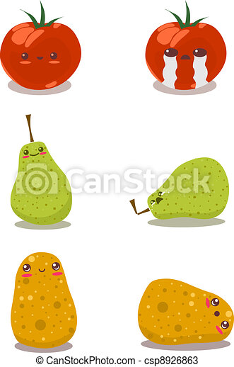 Funny Fruits Fun Pack2 - csp8926863