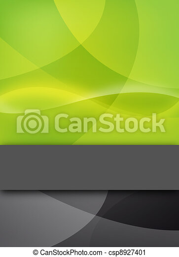 abstract green design with text bar - csp8927401