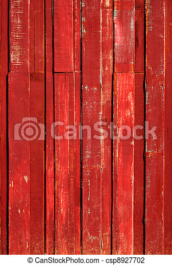 Texture of Red color paint plank vertical - csp8927702