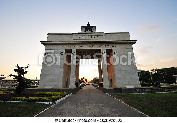 Independence Arch - Accra, Ghana - csp8928303