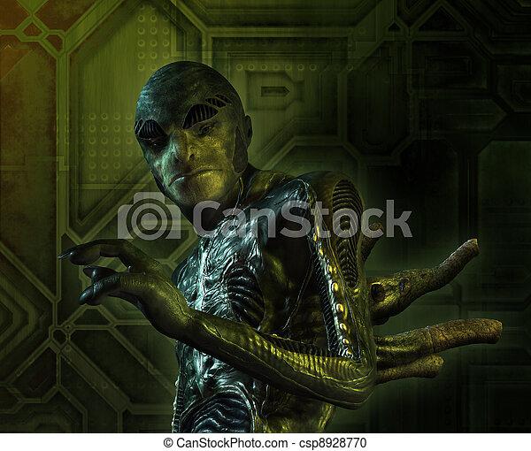 Alien Creature Portrait - csp8928770