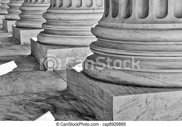 Pillars of Law and Justice - csp8929889