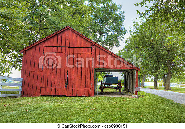 Red barn - csp8930151