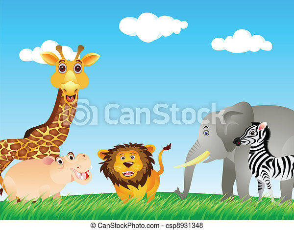 funny animal collection - csp8931348