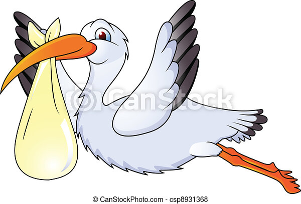 funny stork fly - csp8931368