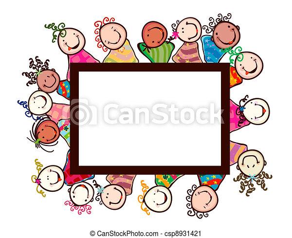 Muslim Kids Line Art