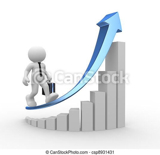 clipart of diagram success   d people   human character  person    diagram success   csp