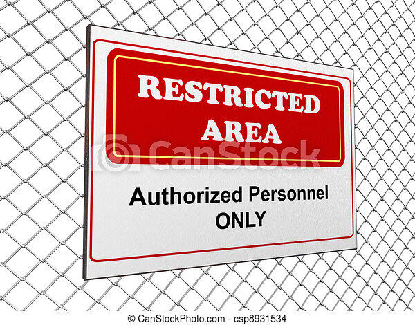 Restricted area notice - csp8931534