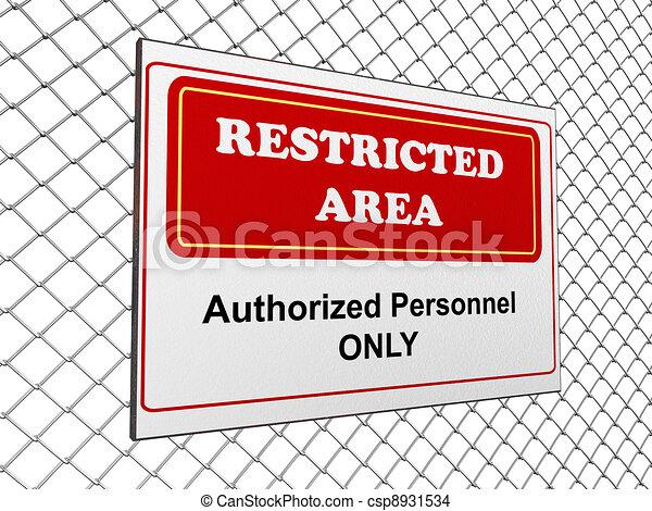 Restricted area notice - csp8931534