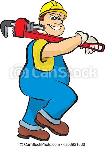 smiling plumber 2 - csp8931680