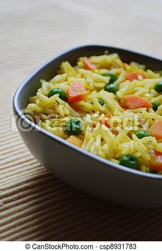 Basmati rice curry - csp8931783