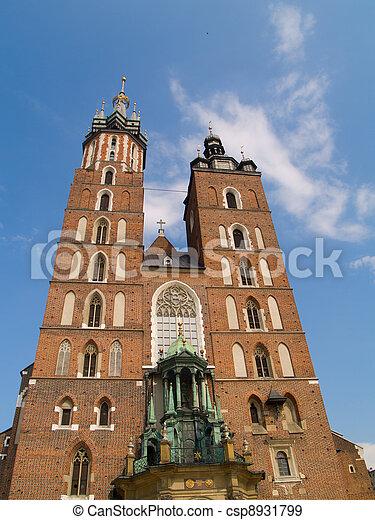 Saint Mary's church in Krakow, Poland - csp8931799