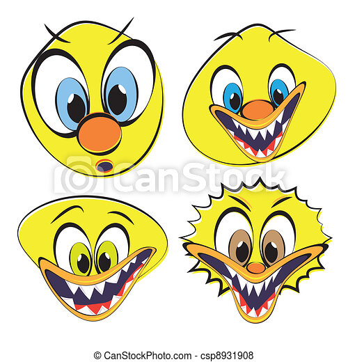 Set of funny and ugly smileys - csp8931908