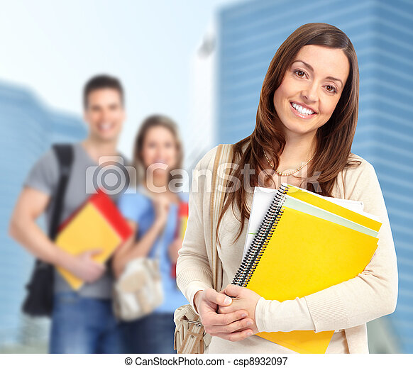 Young student woman.