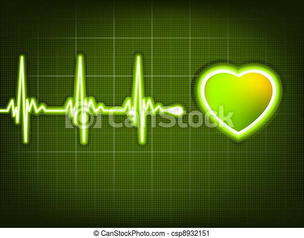 Abstract heart beats cardiogram. EPS 8 - csp8932151