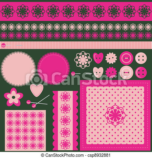 handiwork scrap booking set - csp8932881