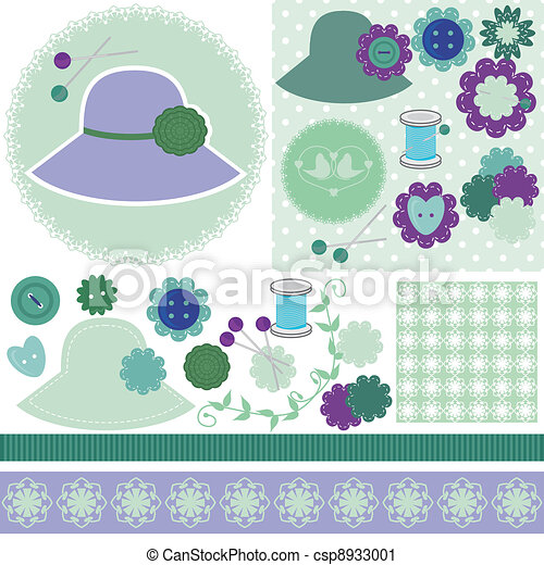 scrap booking set of objects - csp8933001