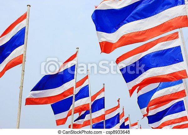 Flag of Thailand. - csp8933648